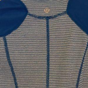 lululemon athletica Tops - Lululemon Blue and White REVERSIBLE 1/4 Zip
